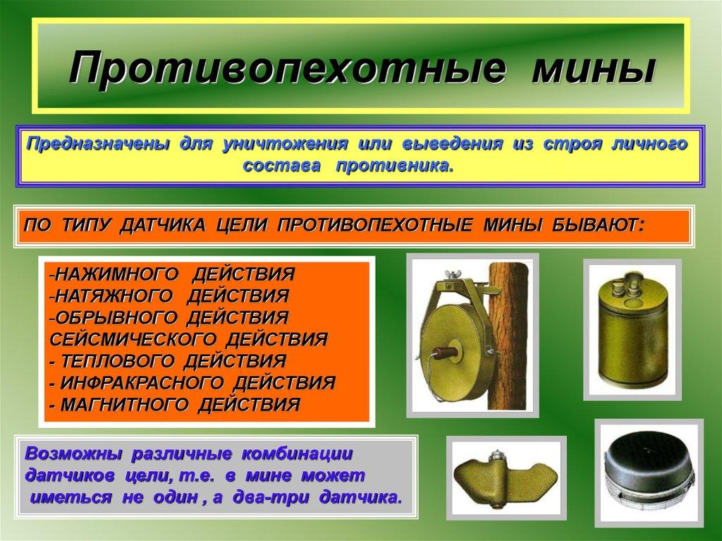 противопехотные мины фото описание