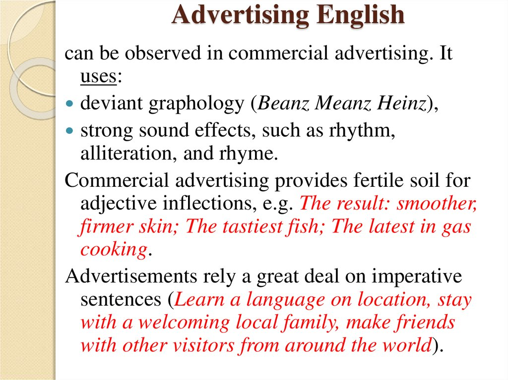 Advertising English
