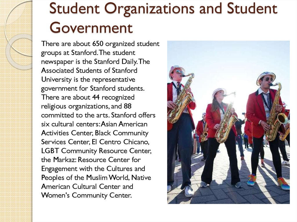Student Organizations and Student Government
