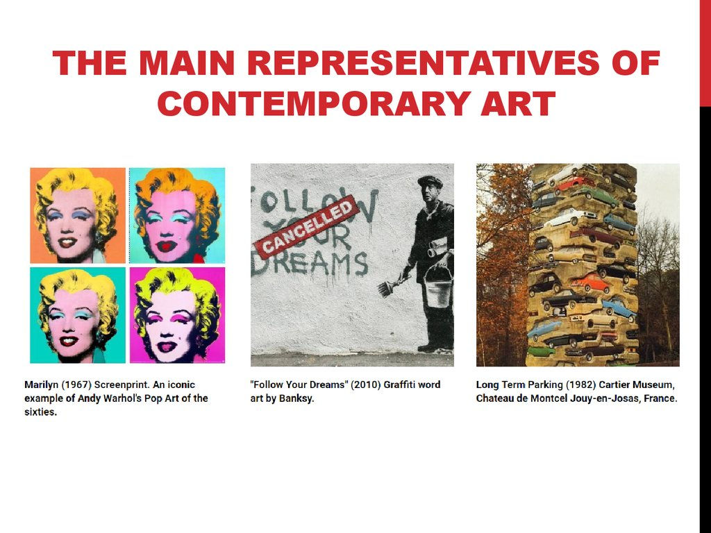 The Main Representatives of Contemporary Art