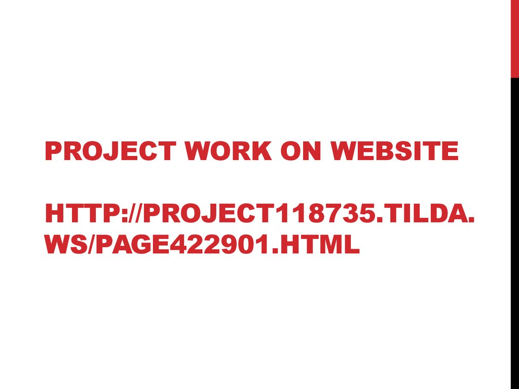 Project work on website http://project118735.tilda.ws/page422901.html