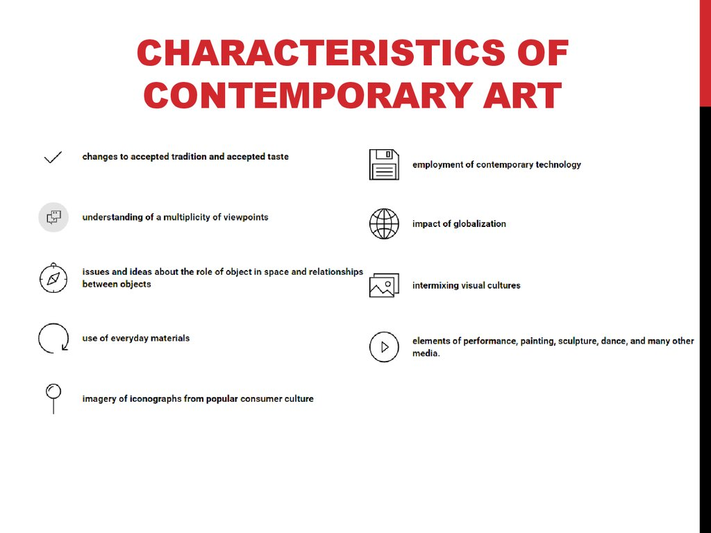 Contemporary art - online presentation