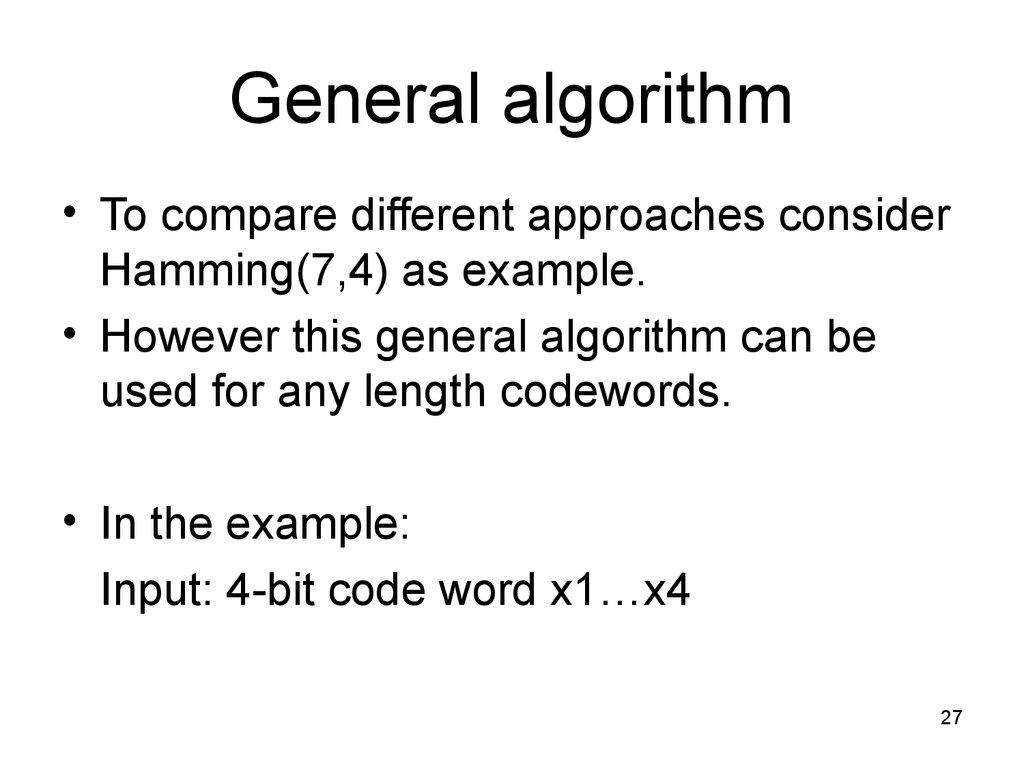 Error control. Hamming code - online presentation
