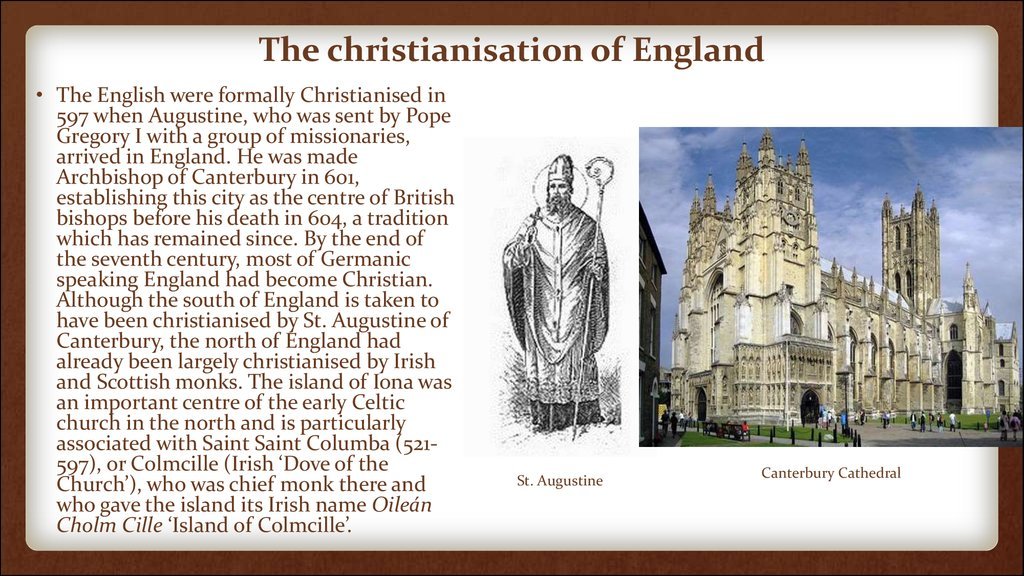 The christianisation of England