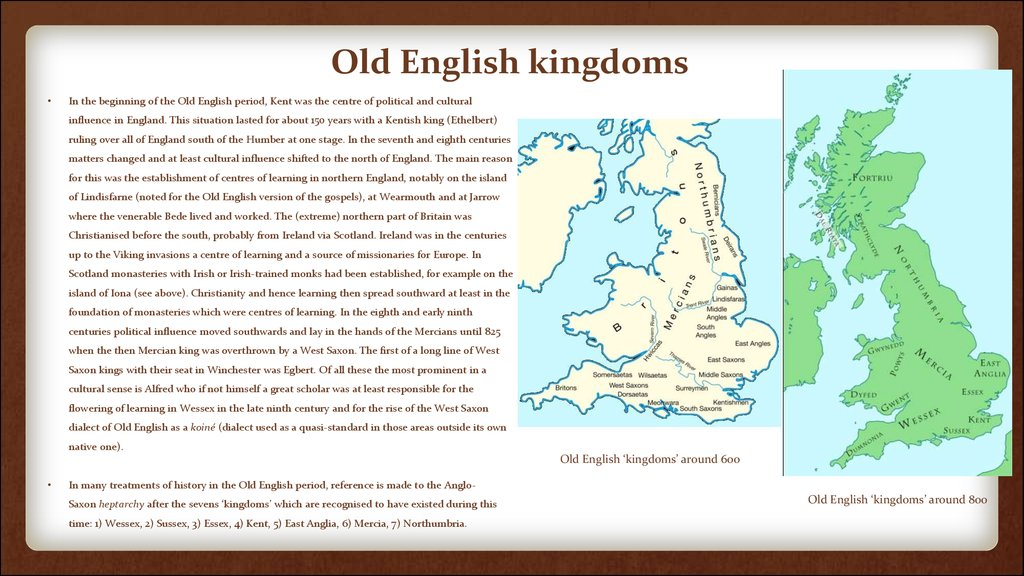 Old English kingdoms