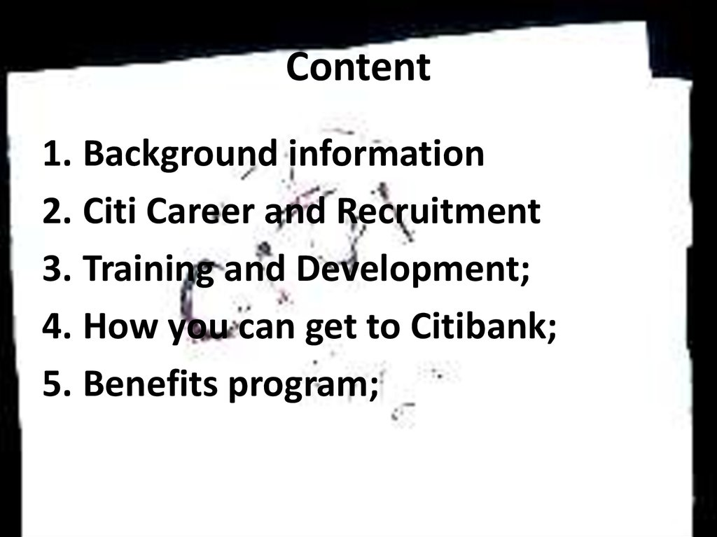 Recruitment and selection in citibank