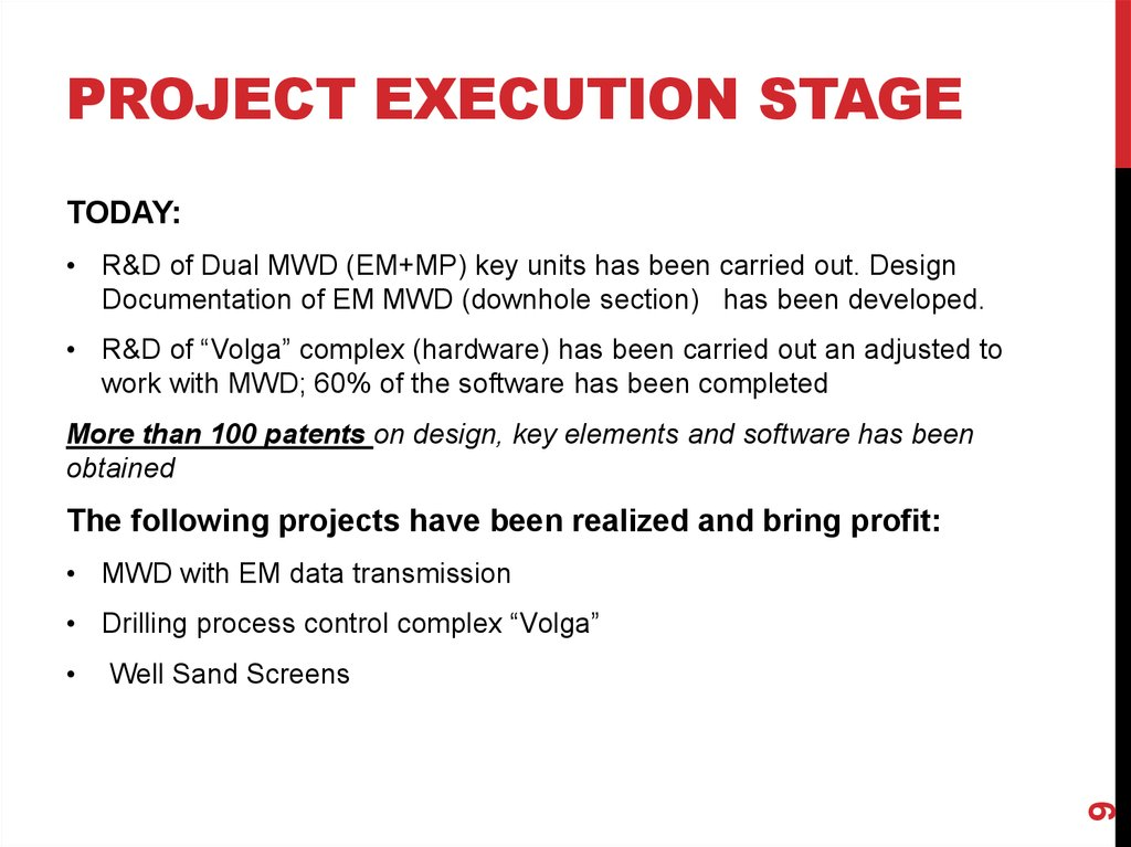 PROJECT execution STAGE