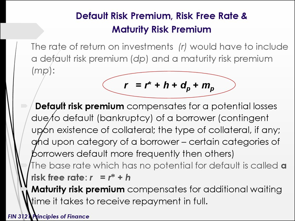 Maturity risk premium calculator