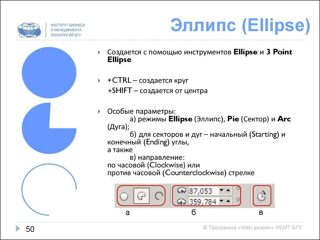 Эллипс (Ellipse)