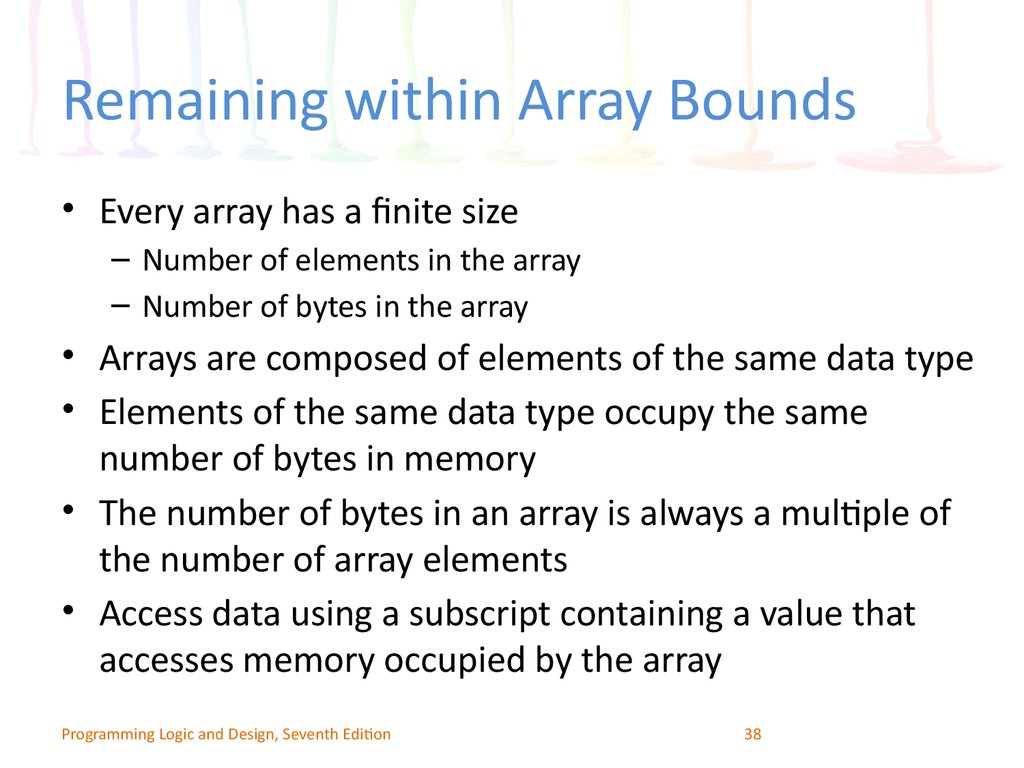 Remaining within Array Bounds