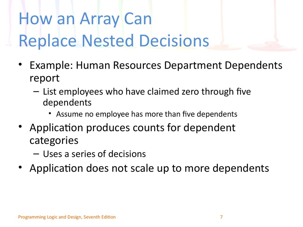 How an Array Can Replace Nested Decisions
