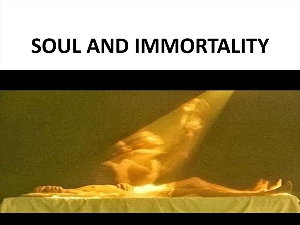 SOUL AND IMMORTALITY