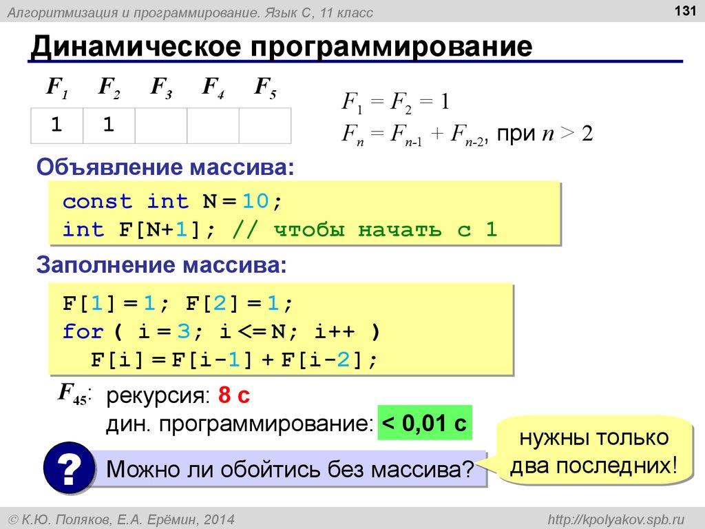 решебник программирование си