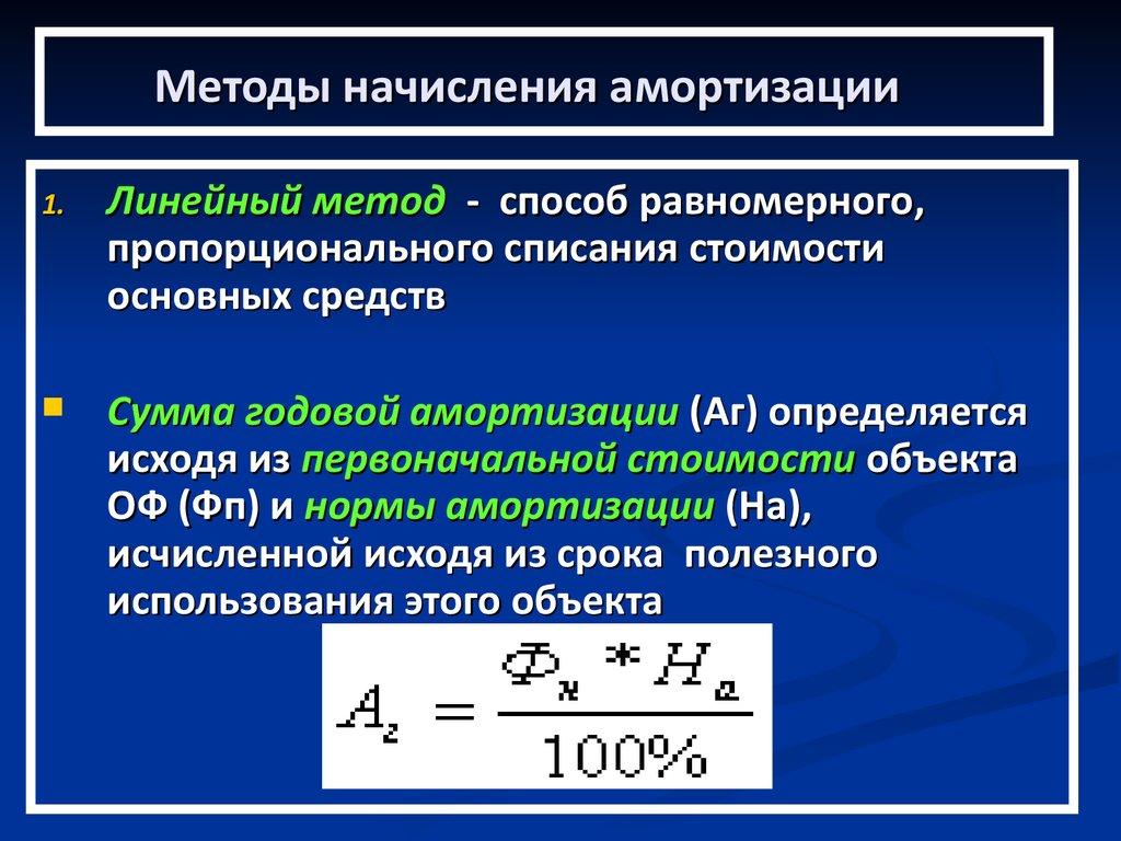 Шпаргалка расчета основных амортизация амортизационных отчислений методика фондов