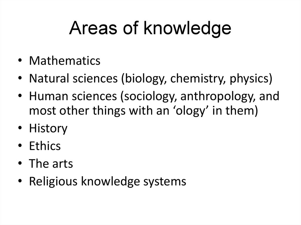 The Different Areas Of Knowledge Essay Help Pqessaybareeteria