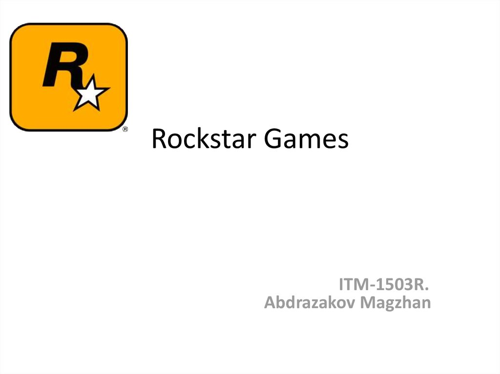 Rockstar Games - online presentation