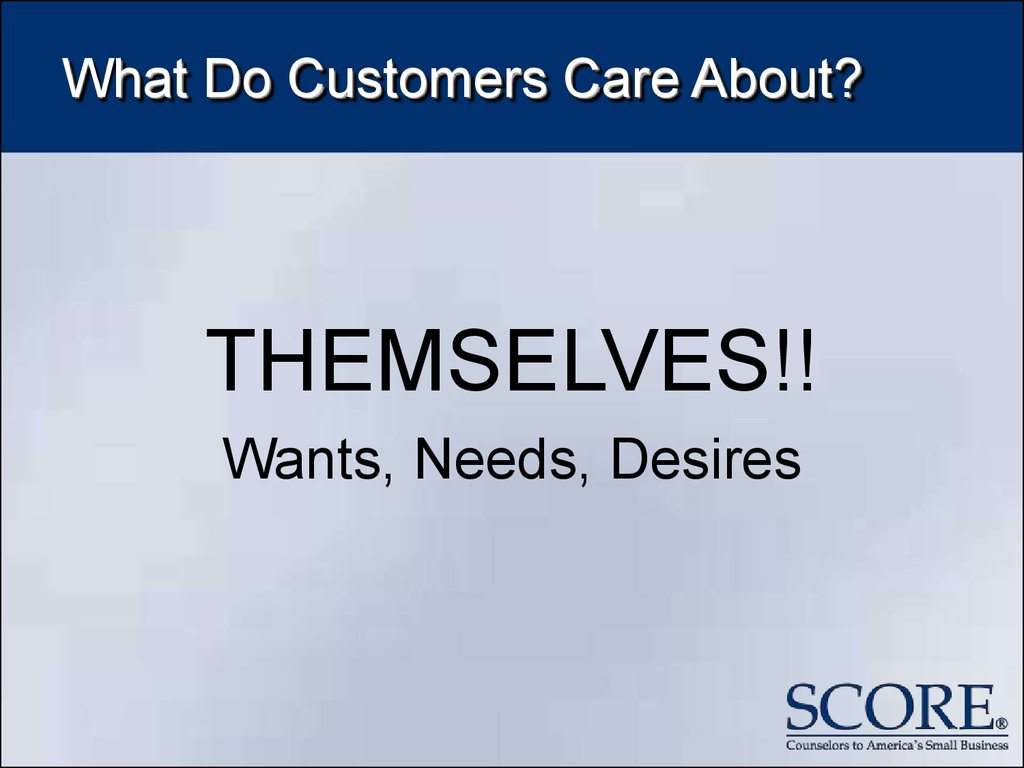 What Do Customers Care About?