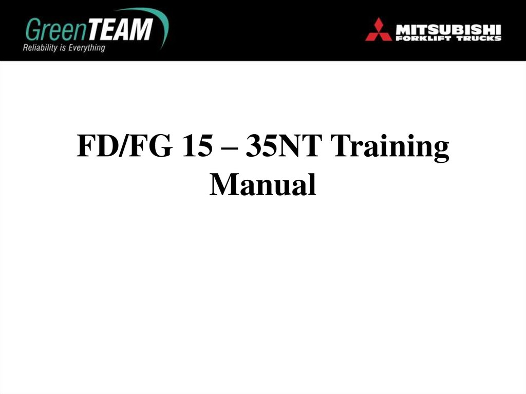 FD/FG 15 – 35NT Training Manual