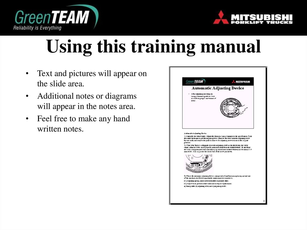 Using this training manual