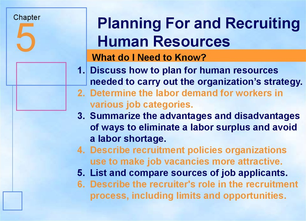 Planning For and Recruiting  Human Resources - презентация онлайн