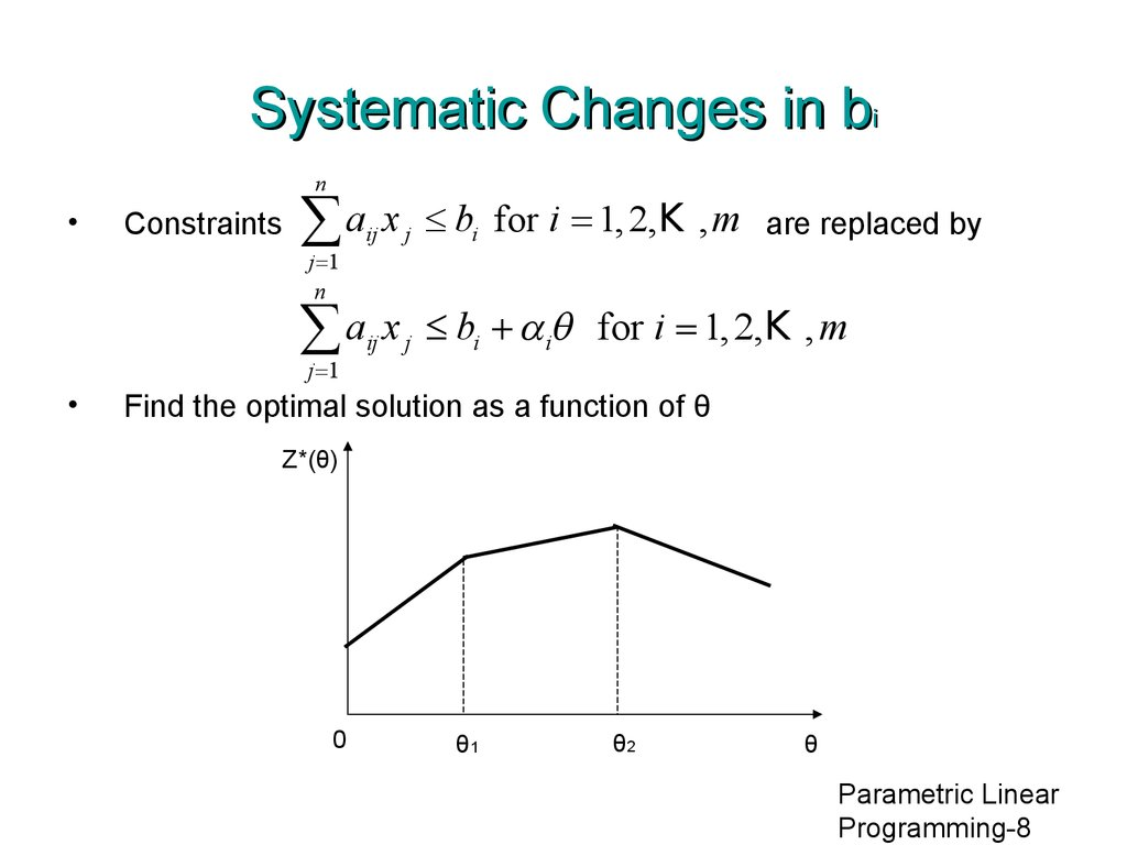 Systematic Changes in bi