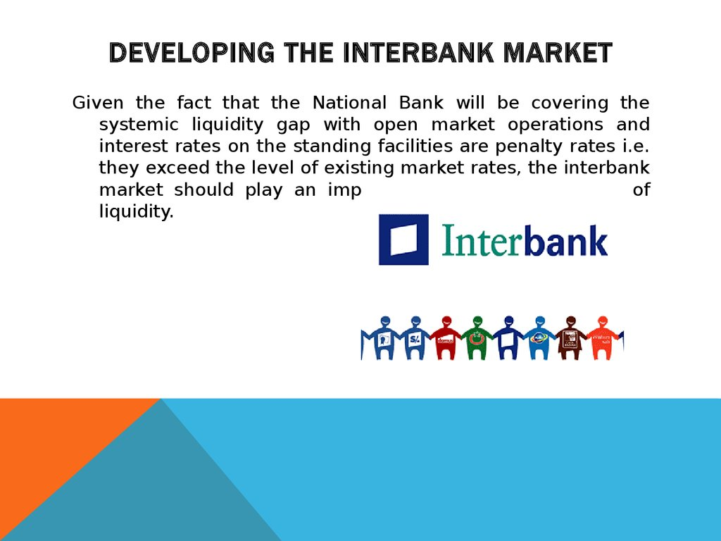 Developing the interbank market