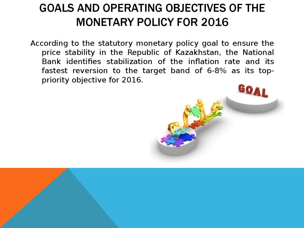 GOALS AND OPERATING OBJECTIVES OF THE MONETARY POLICY FOR 2016