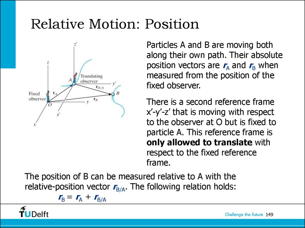 Relative Motion: Position