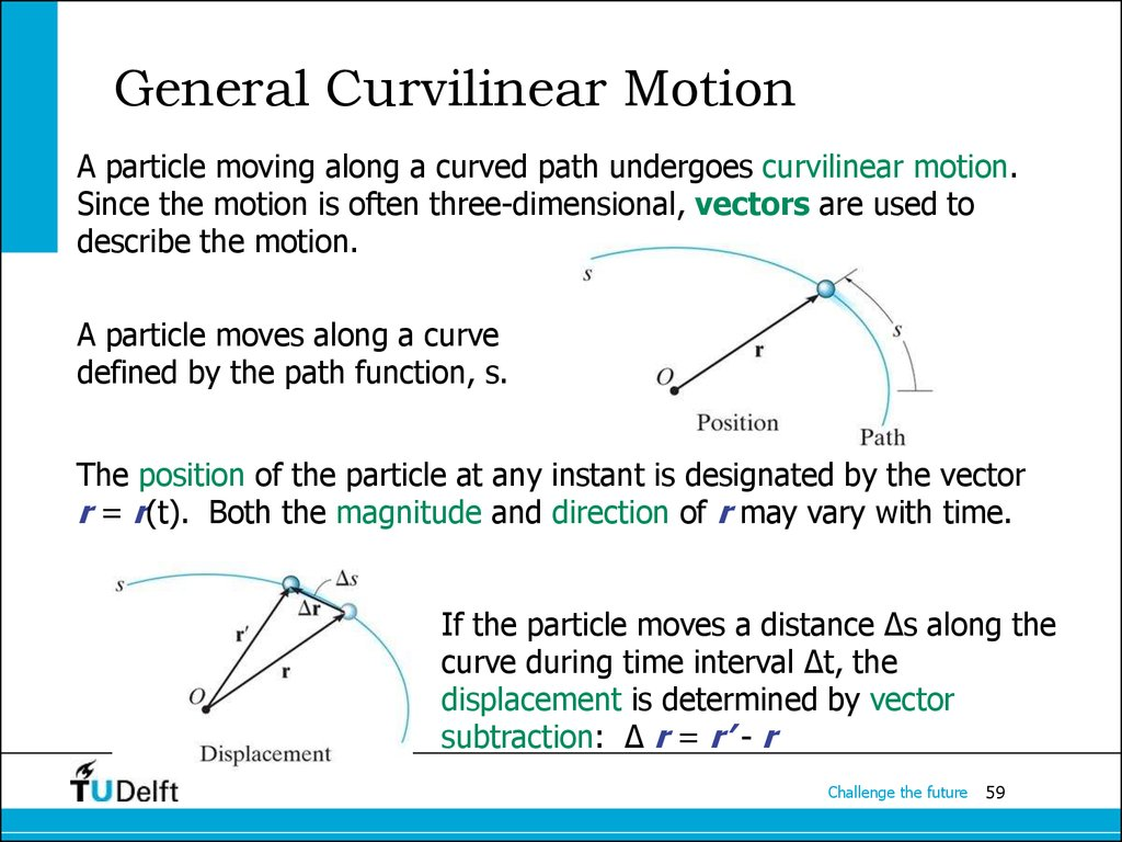 General Curvilinear Motion