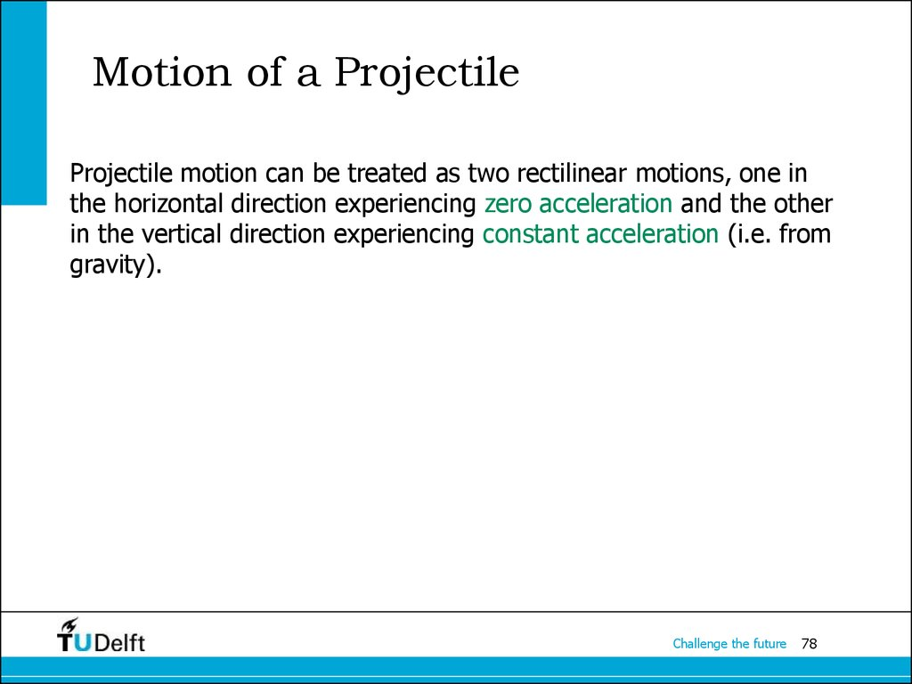 Motion of a Projectile