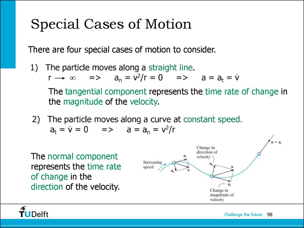 Special Cases of Motion