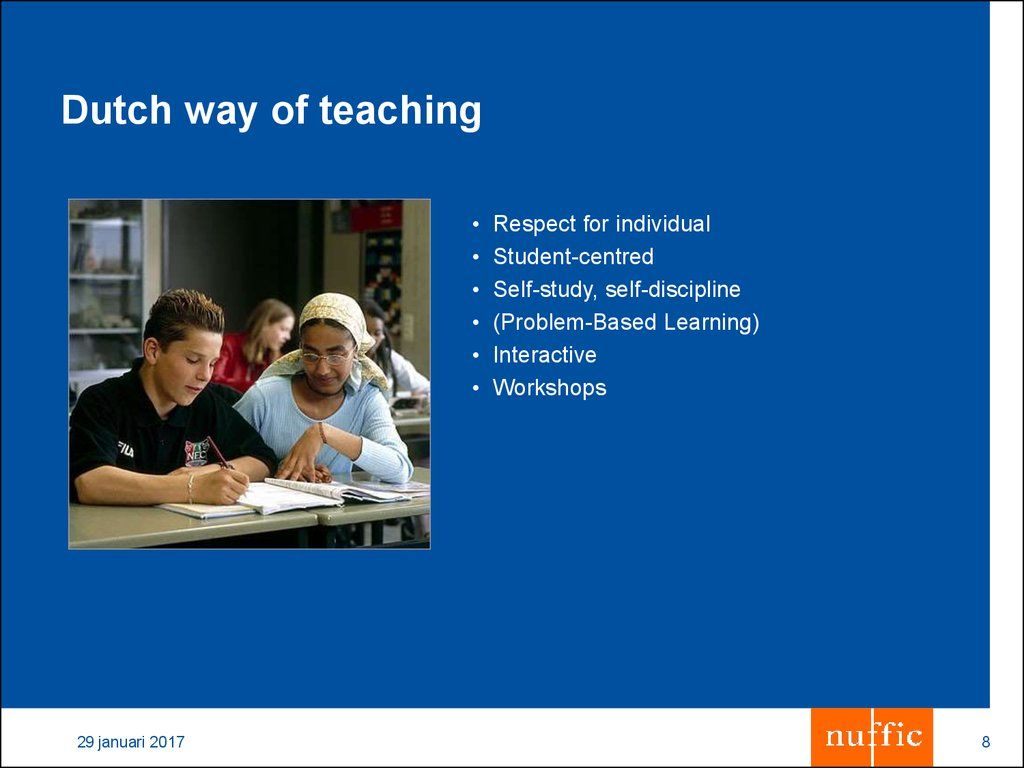 Dutch way of teaching