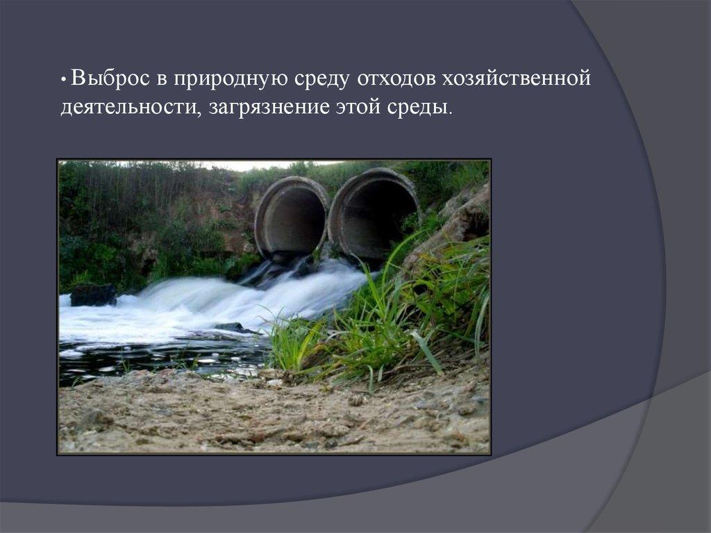 Доклад антропогенное воздействие на гидросферу 7198