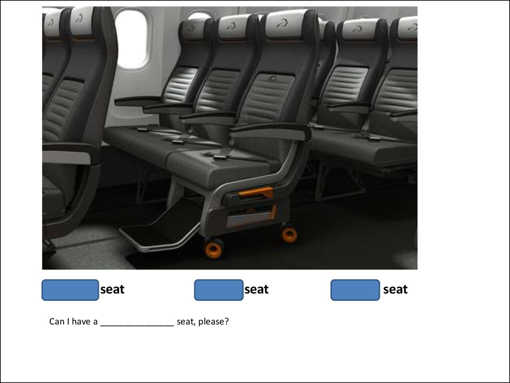Window seat middle seat aisle seat