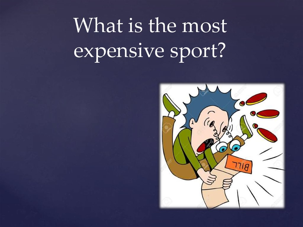 What is the most expensive sport?