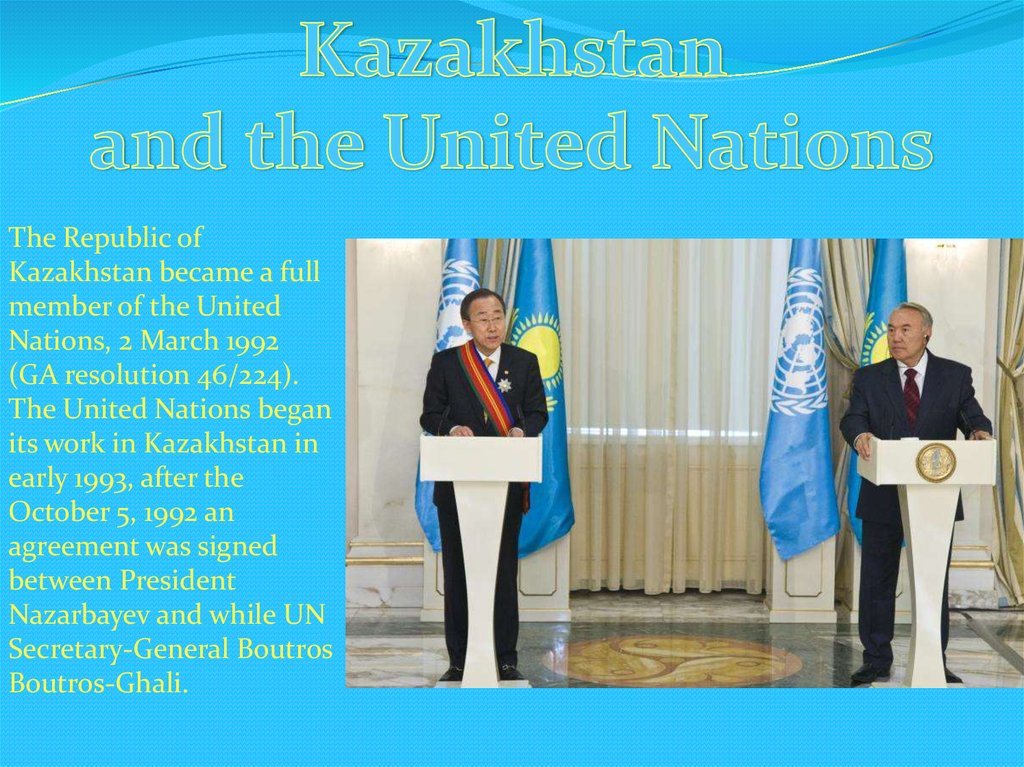The Foreign Policy Of Kazakhstan Online Presentation