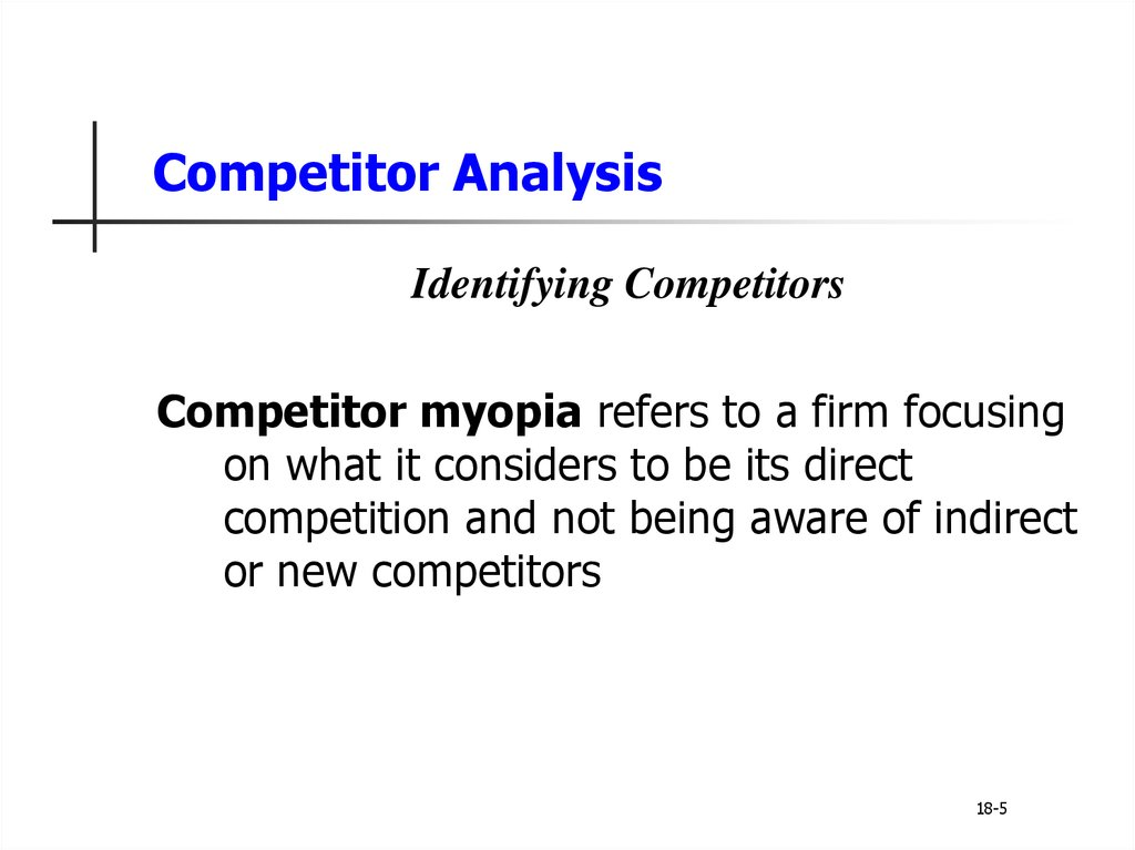 analysing competitors and creating a competitive