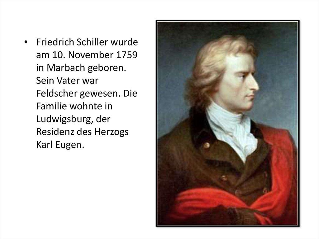Friedrich Schiller 1759 1805 Online Presentation