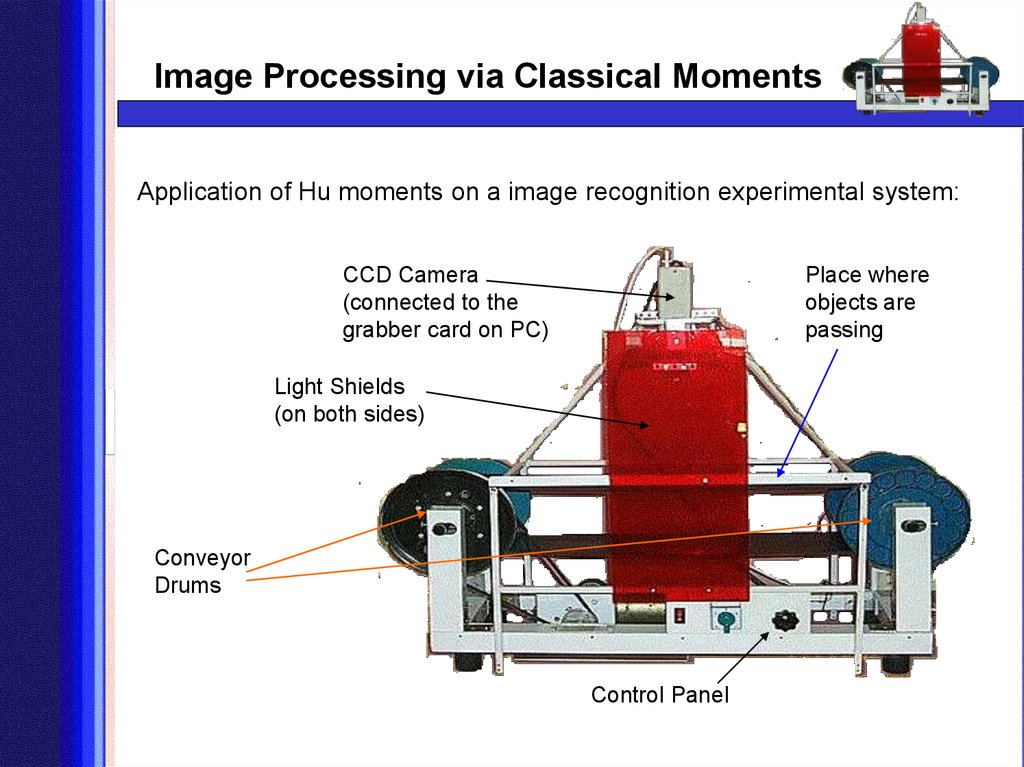 Application of Hu moments on a image recognition experimental system: