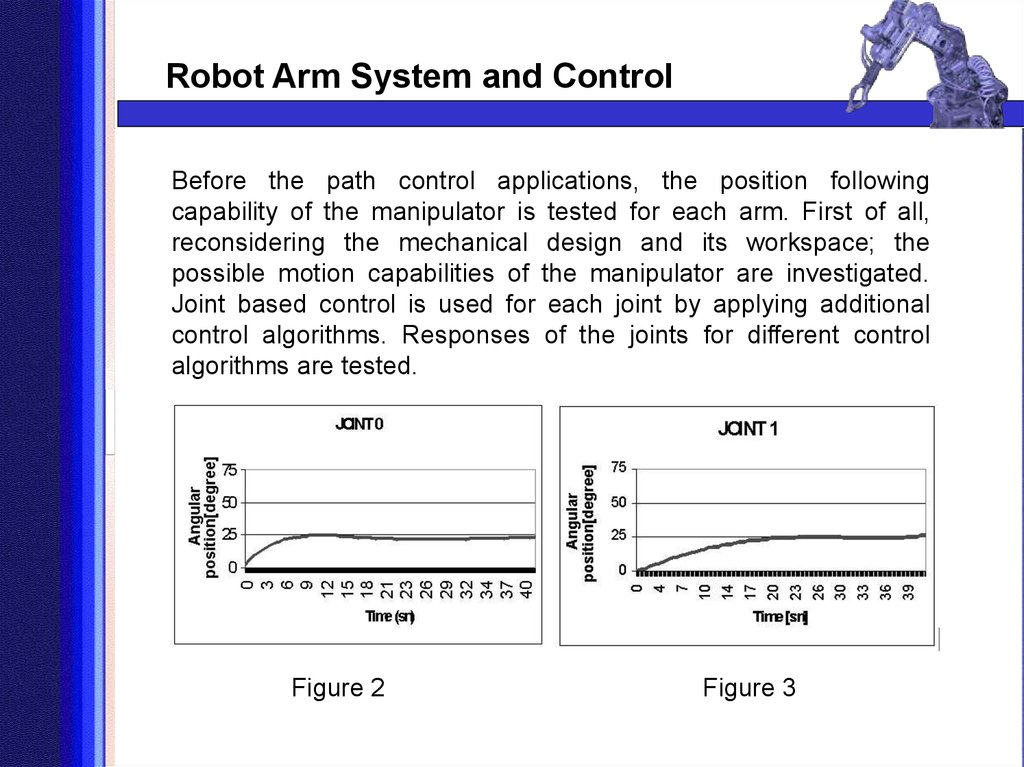 Before the path control applications, the position following capability of the manipulator is tested for each arm. First of all, reconsidering the mechanical design and its workspace; the possible motion capabilities of the manipulator are investigated. J