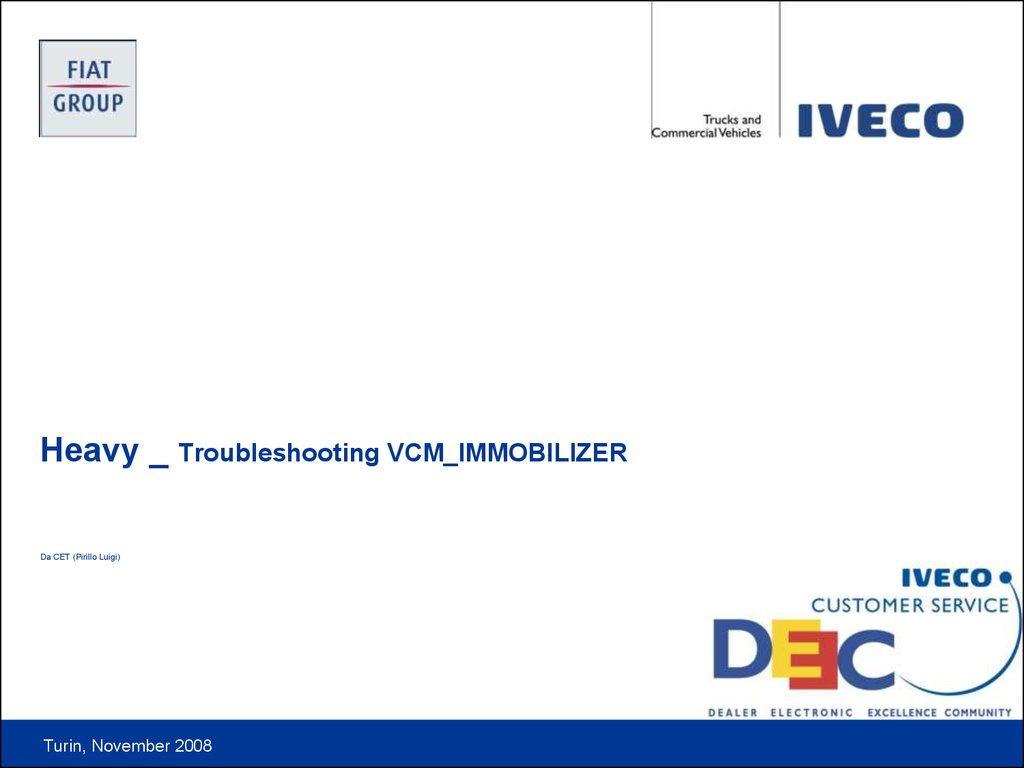 Troubleshooting VCM MemoKey - online presentation