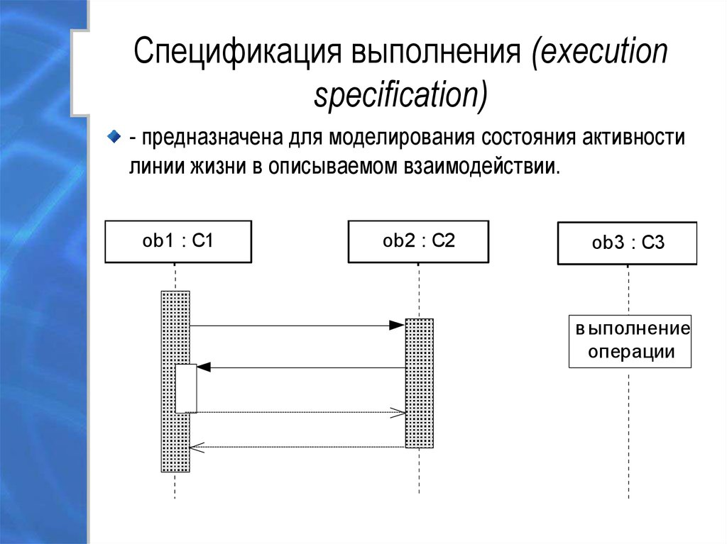Спецификация выполнения (execution specification)