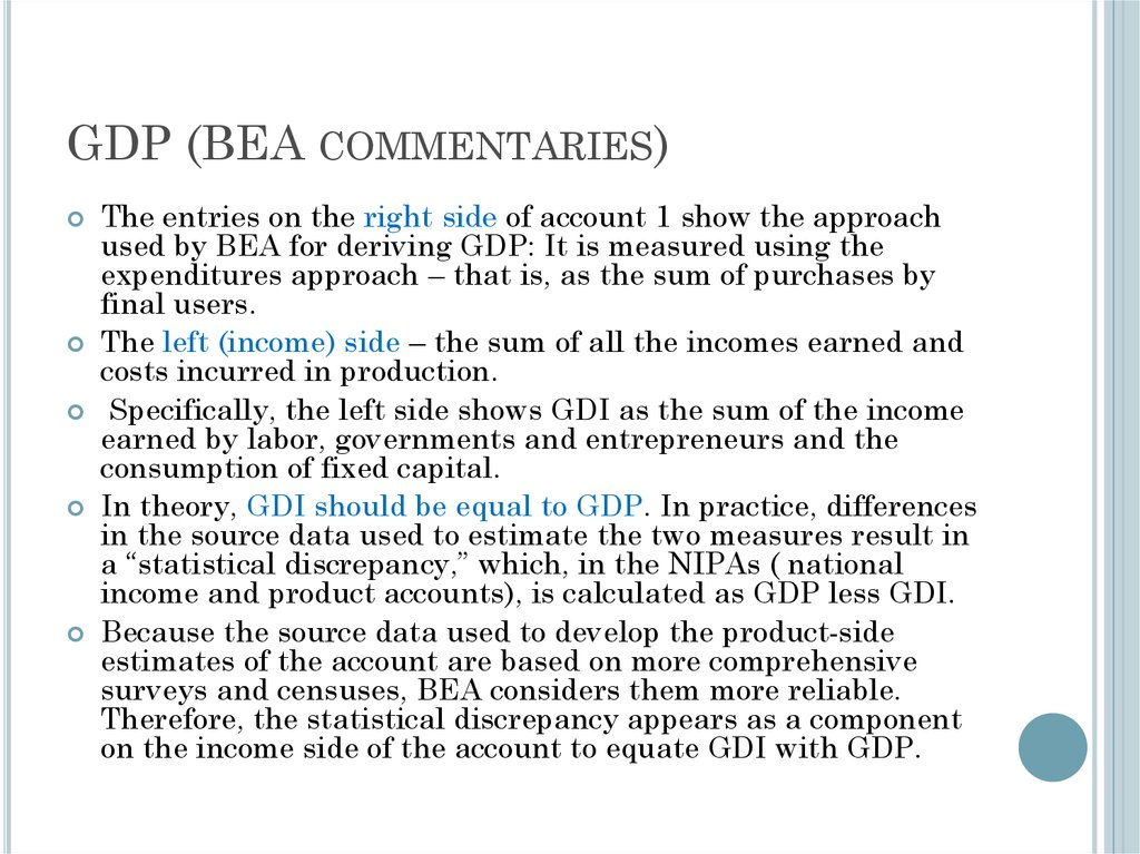 GDP (BEA commentaries)