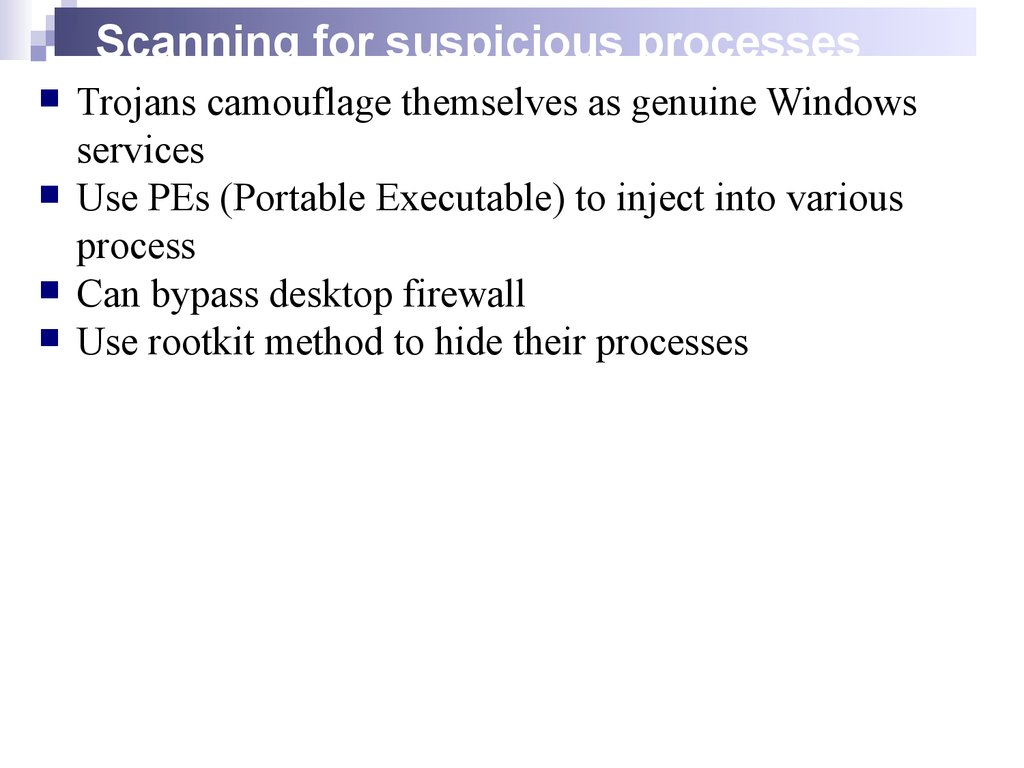 Scanning for suspicious processes