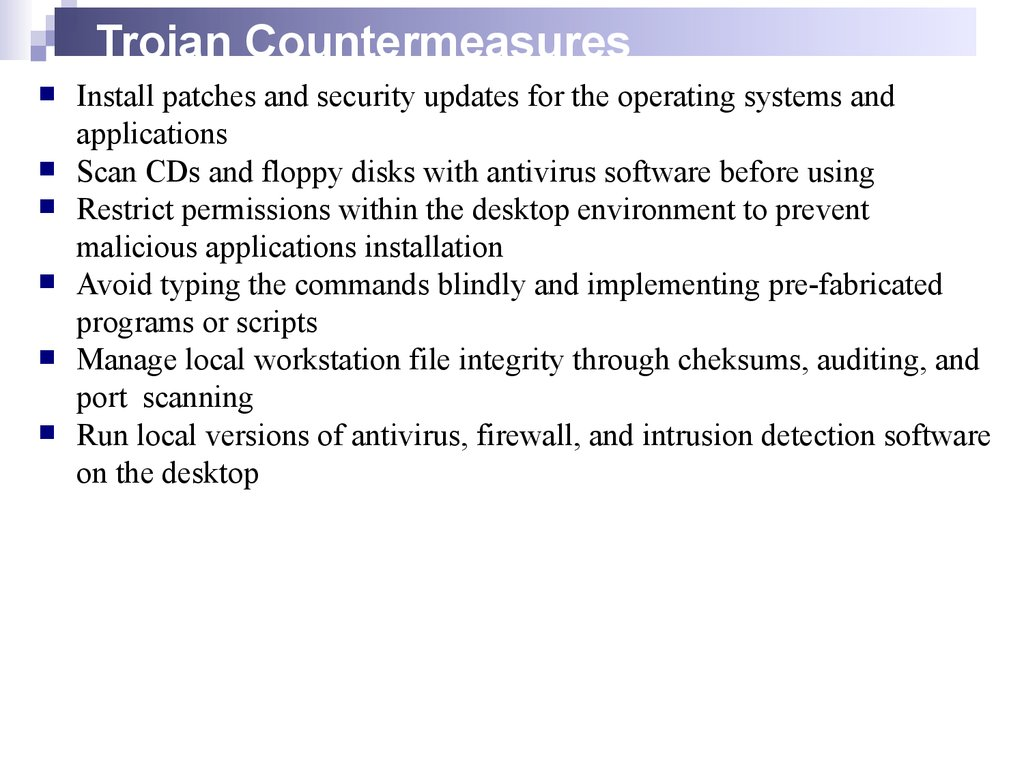 Trojan Countermeasures