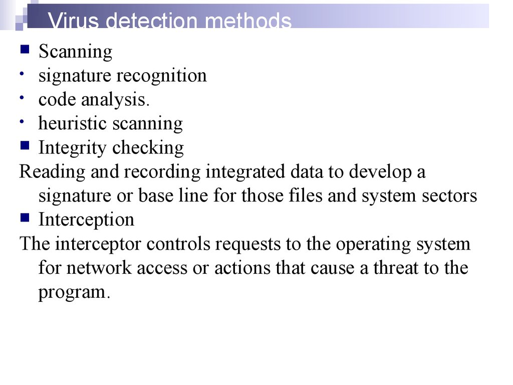 Virus detection methods
