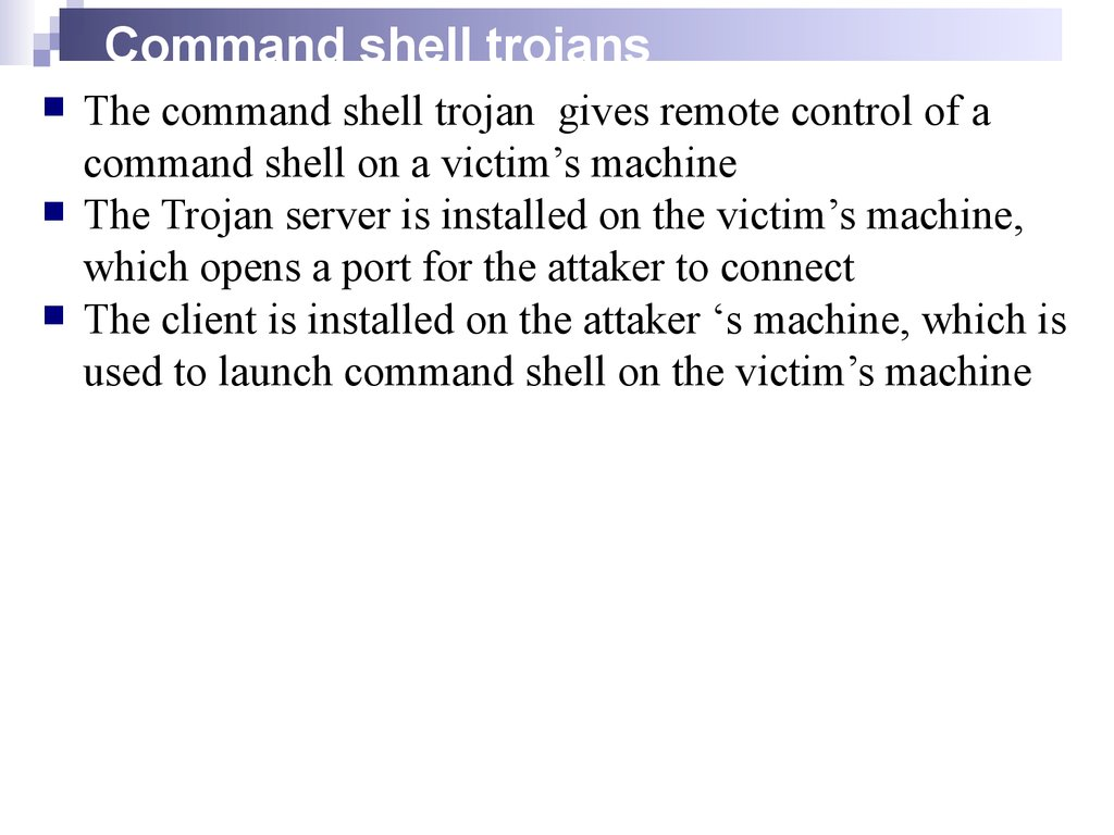 Command shell trojans