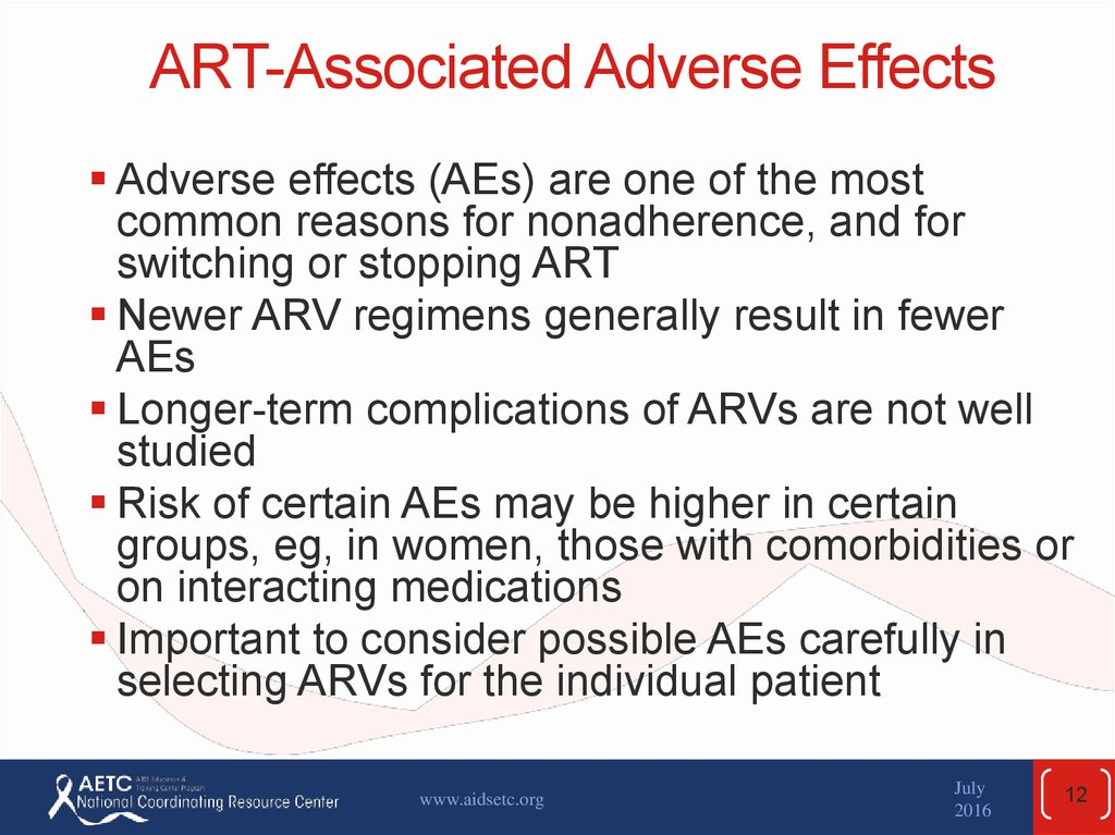 Issues Affecting Art Success Adherence Arv Toxicity
