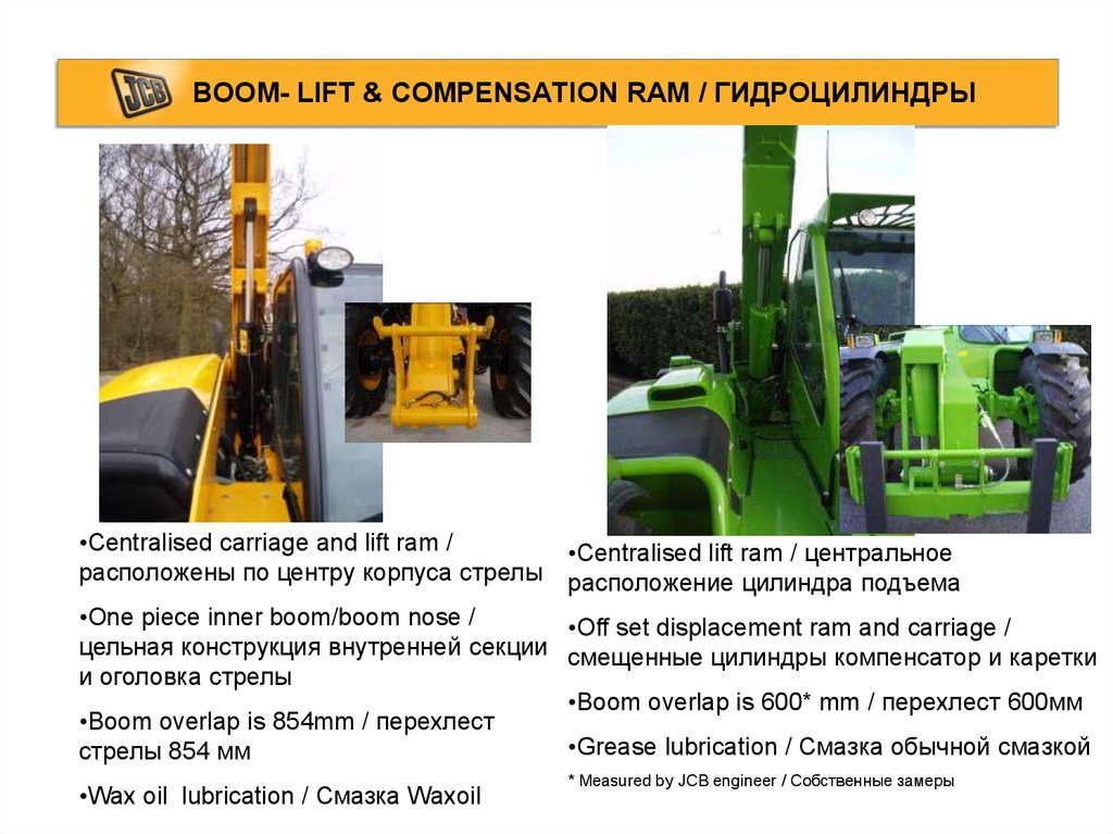 BOOM- LIFT & COMPENSATION RAM / ГИДРОЦИЛИНДРЫ
