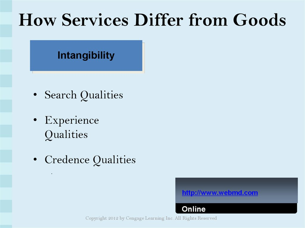 How Services Differ from Goods